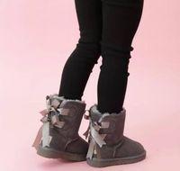 شحن مجاني الاطفال بيلي 2 الانحناء أحذية جلدية الصغار الثلوج الأحذية الصلبة بوتاس دي نيف الشتاء الفتيات الأحذية طفل الفتيات الأحذية