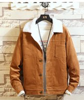Corduroy Coppie casuali Giù cappotto di colore solido del risvolto del collo Unisex Giacche 4 colori Uomini Donne Hot Sell Outerwear