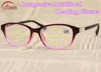 Óculos de sol óculos de leitura progressiva vintage clássico roxo diamante pérola decoração mulheres quadro óculos +1 +1,5 +2 +2,5 +3 +3.5 +4.0