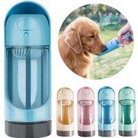 1 قطعة المحمولة كلب زجاجة المياه تغذية للكلاب الكبيرة الصغيرة منتجات الحيوانات الأليفة الجرو شرب وعاء في الهواء الطلق موزع المياه