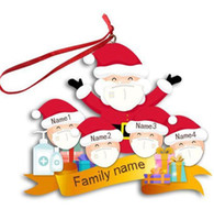 Fast Ship 2020 Christmas mask snowman pendant resin Ornament Christmas tree hanging pendant Decoration Gift wishes the whole family peace