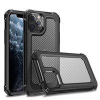 Armor Amboly Case для iPhone 12 11 Pro Max XS XR 6 7 8 PLUS Samsung S20 Plus Ultra Compate Clear Carber Fiber
