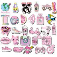 50Pcs Sevimli PINK B Kız Çocuklar Karikatür Çıkartma Paketi Sigara rastgele Graffiti Araba Bisiklet Bagaj Sticker Laptop Kaykay Motor Su Şişesi Çıkartması