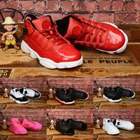 Jumpman 6 Anéis Bred Shoes Rosa Vermelho Branco Preto Crianças Basquetebol baratos 6s Meninos Meninas de boa qualidade Atlético Designer Sports Shoes EUR 28-35