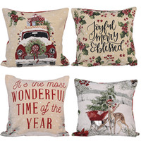 """18"""" Yastık Koltuk Kanepe Yatak Araç JK2009XB için Noel Dekoratif Couch Yastık Kılıfı Kare Yastık Kapak Kapaklar Throw"""