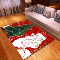 Cartoon Santa Claus Carpets Parlor Xmas Area Rugs Kids Play Mat Merry Christmas Bedroom Living Room Carpet Home Decoration