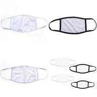 Kulak halkası Katlanabilir Sublime Boşluklar Yüz Koruyucu Anti Toz Maskesi Baskı Blank mascarilla Bezi Yetişkin Çocuk Maske