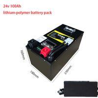 24V 100Ah litio litio 24v batteria del polimero BMS 7S 2000w invertitore portatile potenza motorino della bici pesca light + 10A caricatore