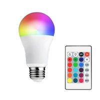 E27 LED 16 تغيير لون RGB RGBW ضوء لمبة مصباح 85-265V RGB الصمام الخفيفة أضواء + IR التحكم عن بعد