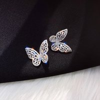 2020 New hot selling fashion jewelry high-end luxury zircon earrings female temperament wild personality butterfly earrings