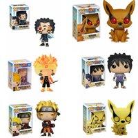 Funko Pop Naruto Uzumaki Naruto Uchiha Sasuke Kyuubi Hout Blad Land van Fire Collection Model PVC Action Figure Kids Toys T200917