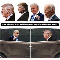 Seçim Trump Çıkartmaları Araba Etiketler Biden Komik Sol Sağ Pencere Peel Off Su geçirmez PVC Araba Pencere Çıkartması Parti Malzemeleri 60pcs OOA9132