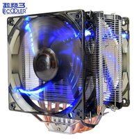 Pccooler X6 CPU radiator 5 heat pipe 12CM LED intelligent si...