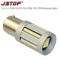 JSTOP 3series E90 F30 F35 316i 320li 328 335li привел Реверсивные огни P21W 6000k светодиодные лампы 12v BA15s 1156 авто Canbus обратных луковиц