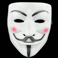 Careta Horror Halloween máscara máscaras de plástico V -Vendetta completa face masculina Street Dance Máscara Traje Partido Papel Cosplay Atmosfera Props VT1594