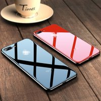 iPhone 11 Pro X XS Max XR 7 8 6 6s Além disso 11Pro luxo Espelho Electroplated vidro temperado Telefone Capa Para