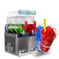 Бесплатная доставка до двери EU US Kitchen 2 * 15L Замороженные напитки Машина Маргарита Охлаждение Slush Slushie Maker