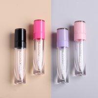 Commercio all'ingrosso pacchetto cosmetico 6ml contenitore di olio labbra rosa viola trasparente tubi di lipgloss vuoti tubi labbra lucido tubi del coperchio contenitori di balsamo