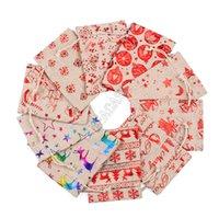 Рождественские шаблоны Drawstring сумка Кошельки белья Конструкторы Рюкзаки джут Sack Детские Подарки для хранения Ткани Сумки Candy Сумки кошелька Бутики D9809