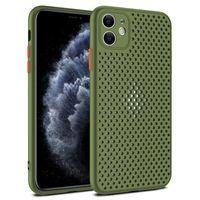 Siatka Pliki Honeycomb Rozpraszanie Ciepła Miękkie Silikonowe TPU Guma wstrząsy Pokrywa przypadku dla iPhone 12 Mini 11 Pro Max XS XR X 8 7 6 6S Plus SE 2020