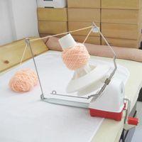 Tricô Máquina Handheld Yarn Winder Fiber tricô máquina a corda Linha corda manual de lã Winder Costura Acessórios