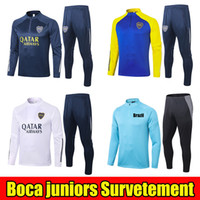 Boca Juniors 20 21 Fussball Trainingsanzug Jacken 2021 Tevez de Rossi Maradona Jogging Football Training Anzug Surveetement Thailand Chandal Kit