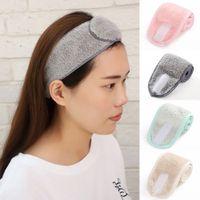 Maquillaje ajustable hairband para lavar la cara SPA bandas del pelo facial para las mujeres de las muchachas suavemente Towelling turbante Accesorios para el cabello