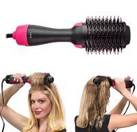 Promosyon !!! Bir adım saç kurutma makinesi ve şekillendirici, saç kurutma makinesi fırçası, 3 1 sıcak hava fırçası - negatif iyon saç kurutma makinesi, düzleştirici kıvırıcı
