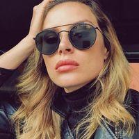 نظارات شمسية جولة خمر النساء الرجال العلامة التجارية مصمم مزدوج جسر الشمس نظارات أنثى 2021 الأزياء نظارات في الهواء الطلق uv400