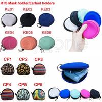 Neoprene Waterproof Zipped Coin Pouch Mask Holder Sunflower Leopard Earbud Case Earphone Pouch Face Mask Storage Bags 12styles RRA3575