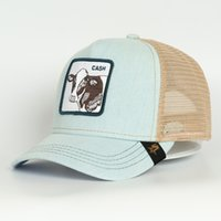 Recenti protezioni animali di Snapback Hat Mesh ricamo ricamo di alta qualità CASH Hip Hop Cappello Trucker traspirante