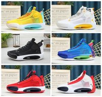 2020 Shoes New Jumpman XXXIV 34 Eclipse Azul Vazio Verde Branco Preto Mens Red Basquetebol High Top 34s qualidade dos homens das sapatilhas esportivas Tamanho 7-12