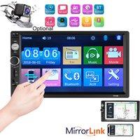 2 Din Bluetooth Car Stereo tela de 7 polegadas touch Car Radio AUX / FM / USB Car Suporte Audio Player Mp5 Espelho Fazer a ligação câmera de visão traseira (opcional)