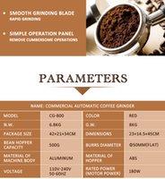 Herramientas ITOP Comercial Molino de café del grano de café seco Alimentos Fresadora Burr Molinillos de café para el hogar