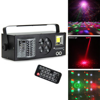 DJ-Ausrüstung 4 in1 Laser-Flash-Strobe-Muster Schmetterling Derby DMX512 LED-Beleuchtungs-Disco-DJ-Bühnenlicht vier Funktionen Bordeffekt