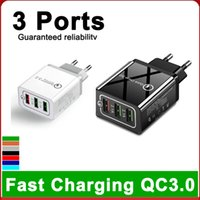 4-Port-USB-Ladegerät Multi-Port Fast Charger Travel tragbare Handy-Ladegerät für iphone 8 XS 11 pro max Samsung S20 S10