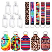 Hand Sanitizer Titular 30ML Neoprene Chaveiros Impressão de Chapstick Suportes Batom Suportes Bolsa Keychain Favor DDA521