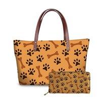 de Noisydesigns Mulheres Bolsas de Grande Capacidade Dogs Prints Sacola feita sob encomenda das senhoras de couro bolsa de moda sacos de ombro para meninas