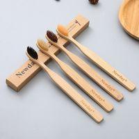 Diente de carbón de bambú cepillo de dientes amistoso Eco- suave de cerdas del cepillo Oral portátiles dientes higiene limpieza Herramientas de blanqueamiento VT1601