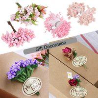 Artificial Pink Flower Stamens Wedding Decoration Wreath For DIY Floral Decor Craft 1 Set