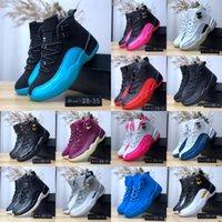 Erkek Kız Ayakkabı Ücretsiz Kargo boyutu için Çocuk Jumpman 12 Basketbol Ayakkabı Çocuklar Atletik XII Spor Ayakkabılar: 28-35