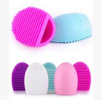 Limpiador de cepillo del maquillaje de silicona brushegg cepillos de lavado de limpieza cosméticos cepillos limpia depurador Fundación almohadilla de limpieza compone la herramienta