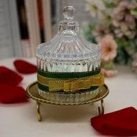 Candeliere geometrica rotonda Candeliere del ferro saldato da tavolo Retro Candela della decorazione circolare ferro Portacandele scrivania