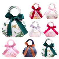 30pcs Nouveau arc avec Remerciez vous Candy Bag Favors Wedding Party boîte-cadeau Forfait anniversaire Faovr Sacs