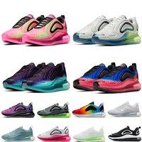 Nike Air Max المساند رجل إمرأة 720s يكون صحيحا النيون الاحذية فلاش قرمزي متسابق فلاش قرمزي المتسابق العلامة التجارية الاحذية الرياضية أحذية رياضية