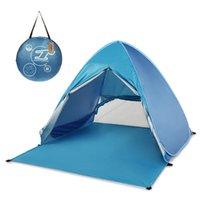 Professionale automatico Istantaneo Fino tenda della spiaggia Oudoor Ultralight tenda da campeggio 2 persona Leggero Protezione UV di Sun Shelter