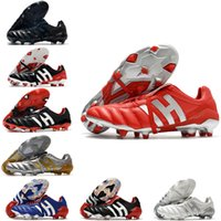Hommes Predator 20+ mutatatrice Mania Tenseau d'accélérateur d'électricité Precision FG Beckham DB Zidane Soccer Chaussures Tarcles Bottes de football Chuteiras