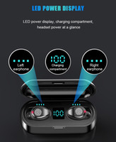 Wireless Earphone Bluetooth V5.0 F9 TWS Wireless Bluetooth Headphone LED Display With 2000mAh Power Bank Headset With Microphon1.