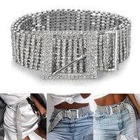 2020 Fashion Women Belts 10 Rows Full Rhinestone Shiny Waist...