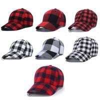 Korea Stijl Plaid Katoen Baseball Caps Paardenstaart Bal Hoed Vrouwen Mannen Peaked Cap Outdoor Snapback Caps Verstelbare Hip-Hop Visor Hats D9909